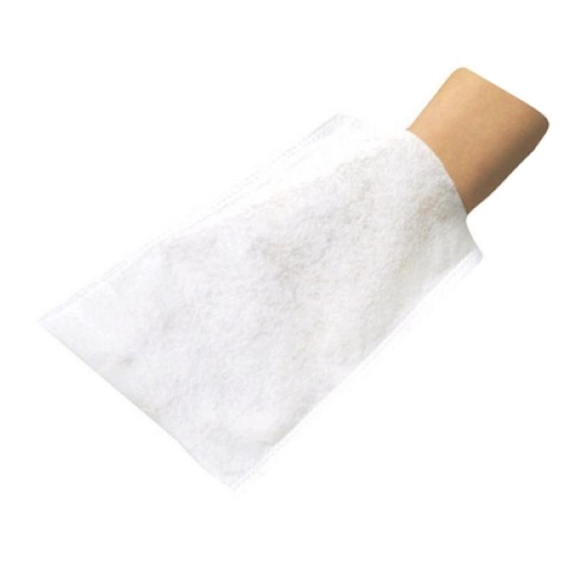 Autres gants Gants de toilette Emilabo - Jetable non tissé - Sachet de 50