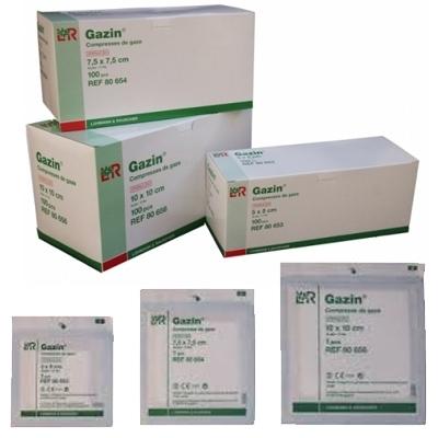 Compresses Compresses de gaze stériles Gazin - Différentes tailles - Boite de 100