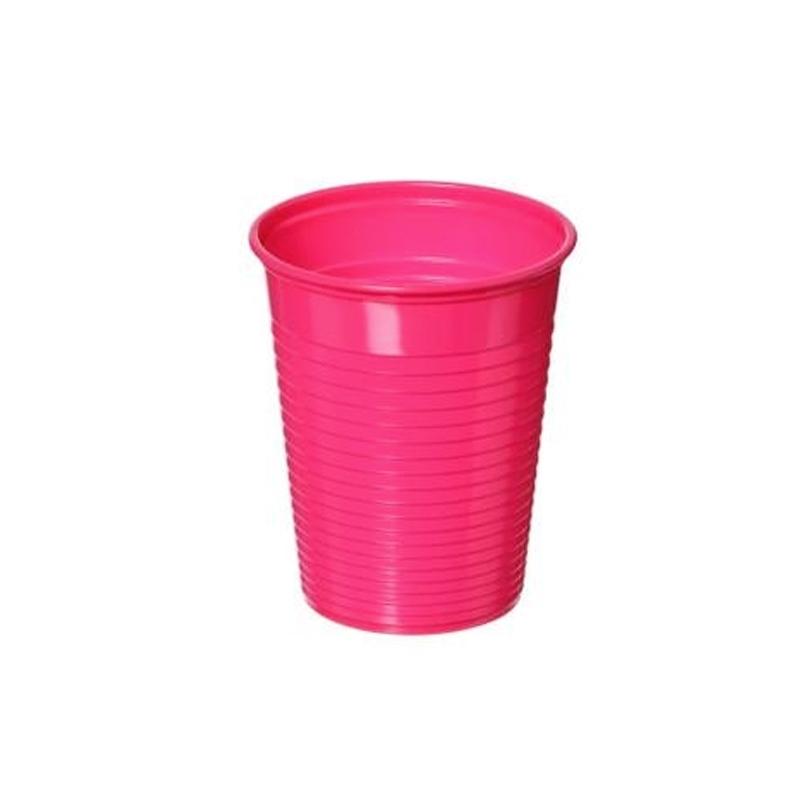 Plastiques Gobelets en plastique rose 20 cL - Paquet x 100