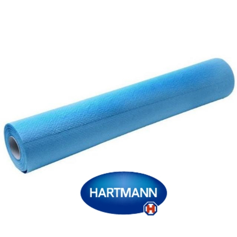 Draps d'examen plastifiés Draps d'examen plastifiés bleus Hartmann Valaroll - 38 x 50 180 formats - au rouleau