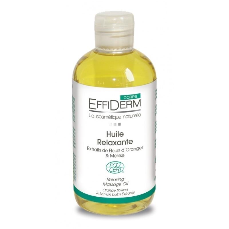 Huile de massage Huile de massage Relaxante Bio - Effiderm - Flacon de 250 ml