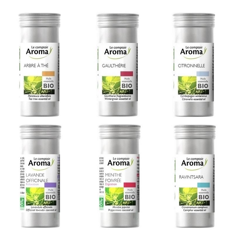 Traitement air et odeur Huiles essentielles bio - Le Comptoir Aroma - Parfums divers - Flacon de 10 ml