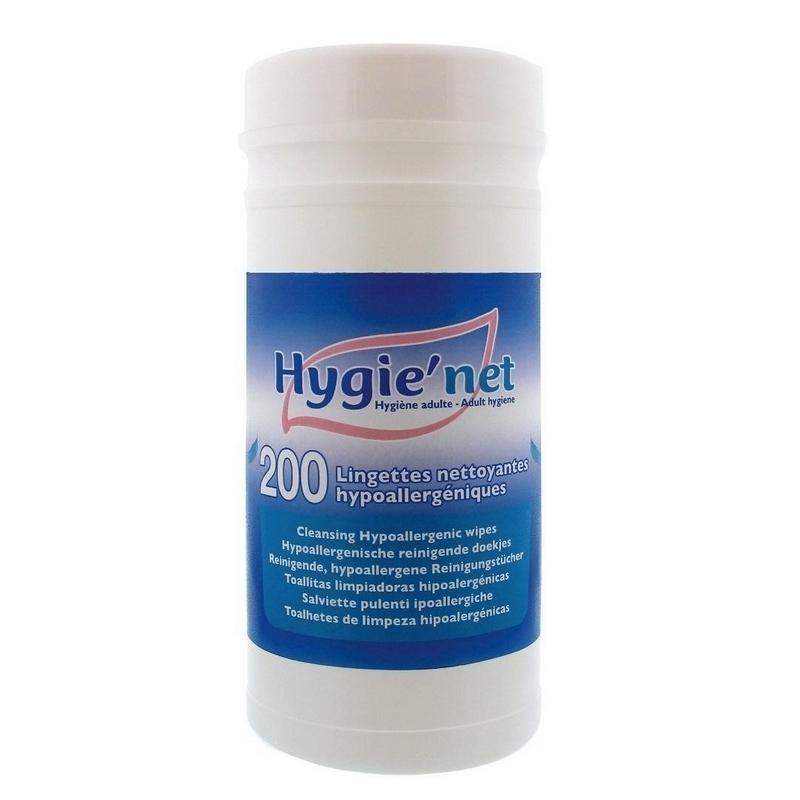 Lingettes  Lingettes corporelles Hygie'Net - Hypoallergénique - Boite de 200
