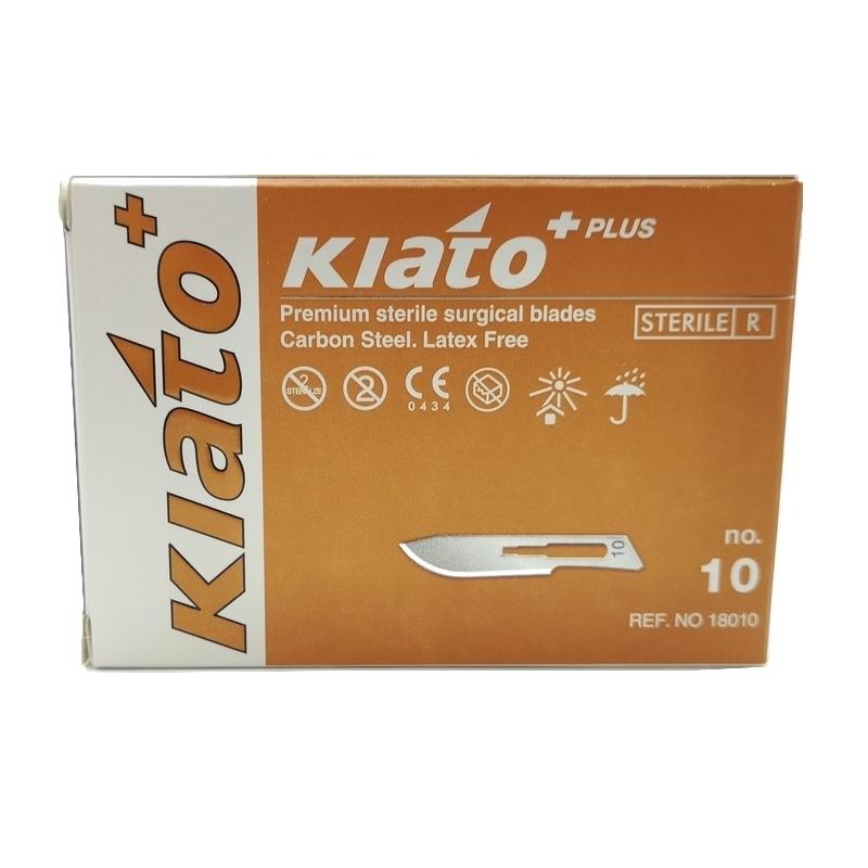 Numéros classiques Lames de bistouris N°10 - Kiato - Stériles - Boite de 100