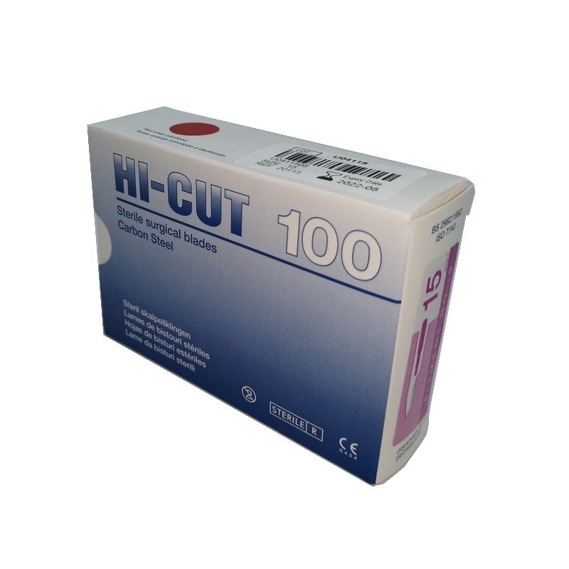 Numéros classiques Lame de bistouris N°15 - Hi Cut - Stérile - Boite de 100