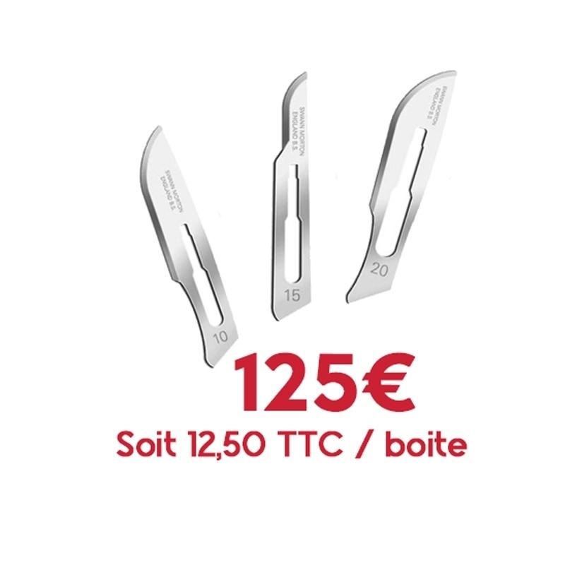 Numéros classiques Promo lames Swann Morton stériles - N°10 / N°15 / N°20 - Panachage pack de 10 boites