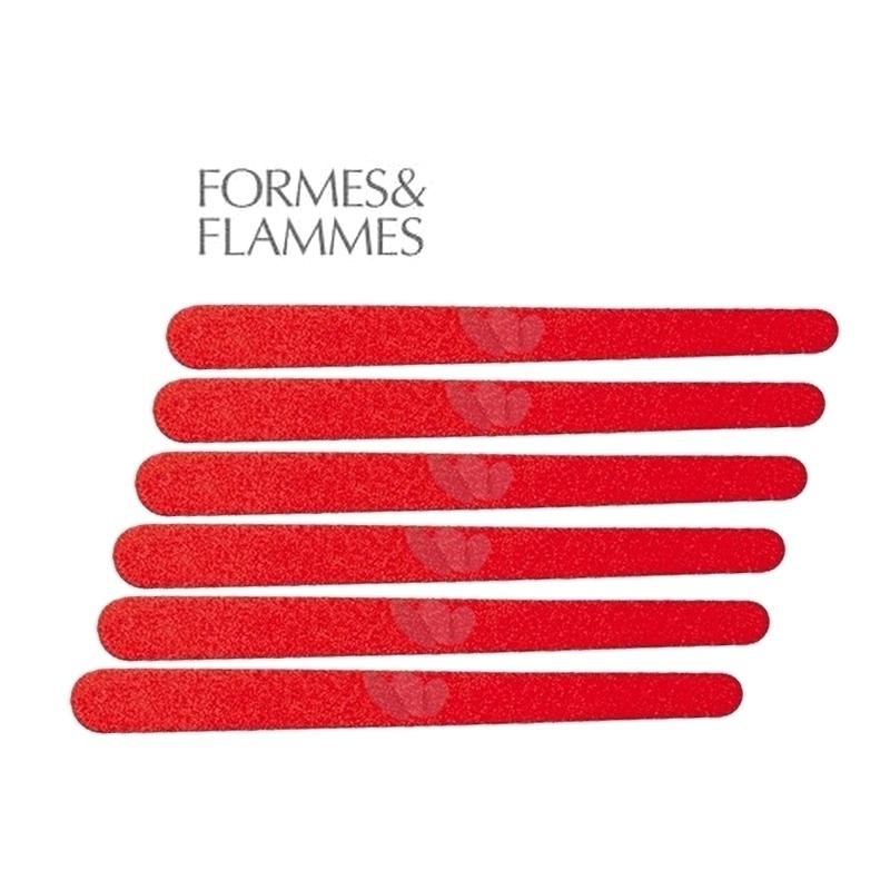 Limes à ongles émerisées - Formes & Flammes - 12 cm - Etui de 6