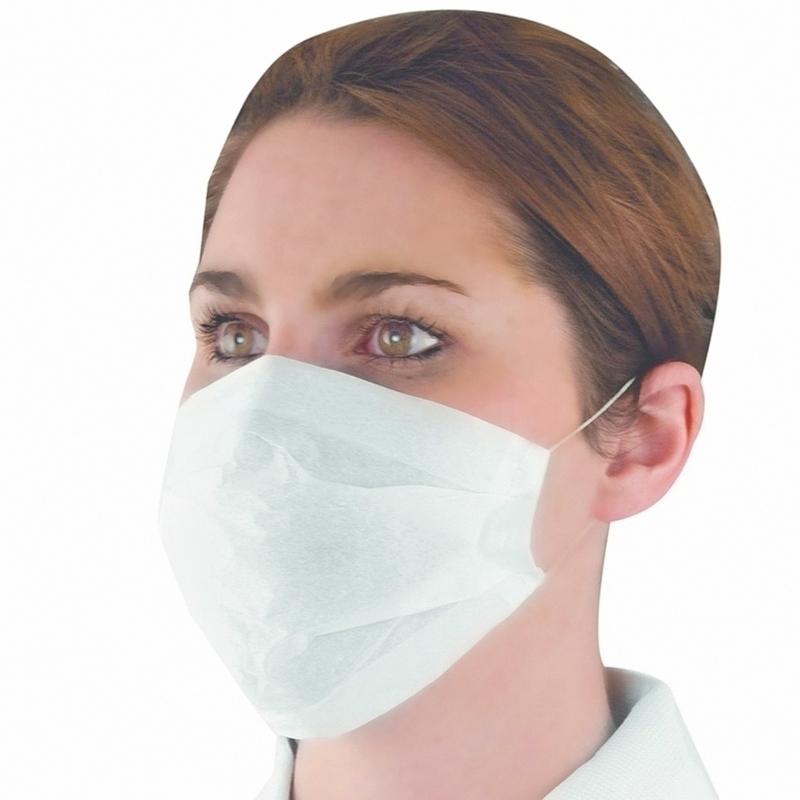 Masque élastique blanc - Papier filtrant 1 pli - Boite de 100