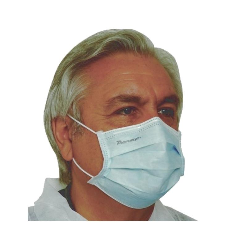 Masques Masque de chirurgie bleu type II - Avec élastique - Aérokyn LCH - Boite de 50