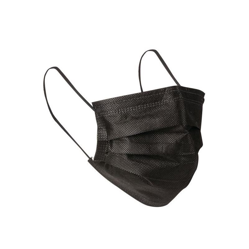 Masques Masque de chirurgie noir type II R - Avec élastique - Aérokyn LCH - Boite de 50