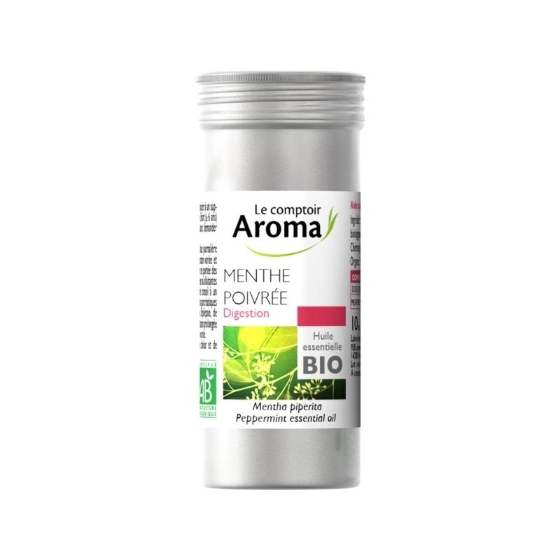 Traitement air et odeur Huile essentielle bio - Le Comptoir Aroma - Menthe Poivrée - Flacon de 30 ml