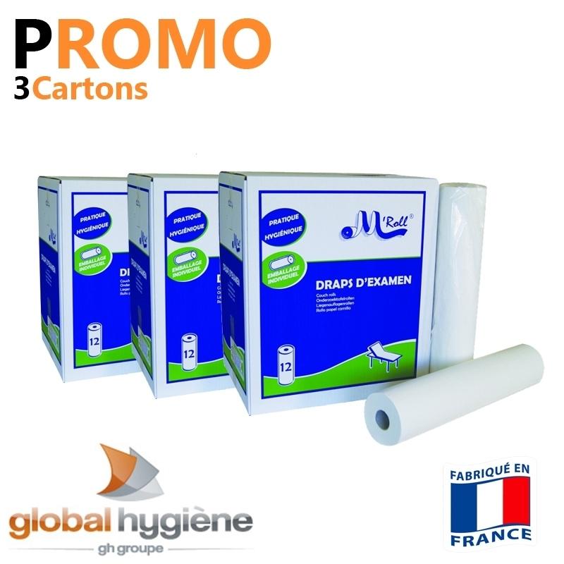 Draps Examens PROMO - 135 formats 35x50 - 3 cartons soit 36 Rlx