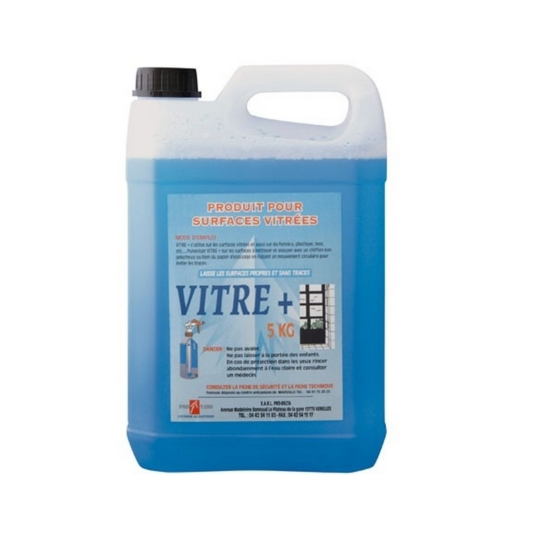 Produits d'entretien Nettoyant surfaces vitrées - Bidon de 5 litres