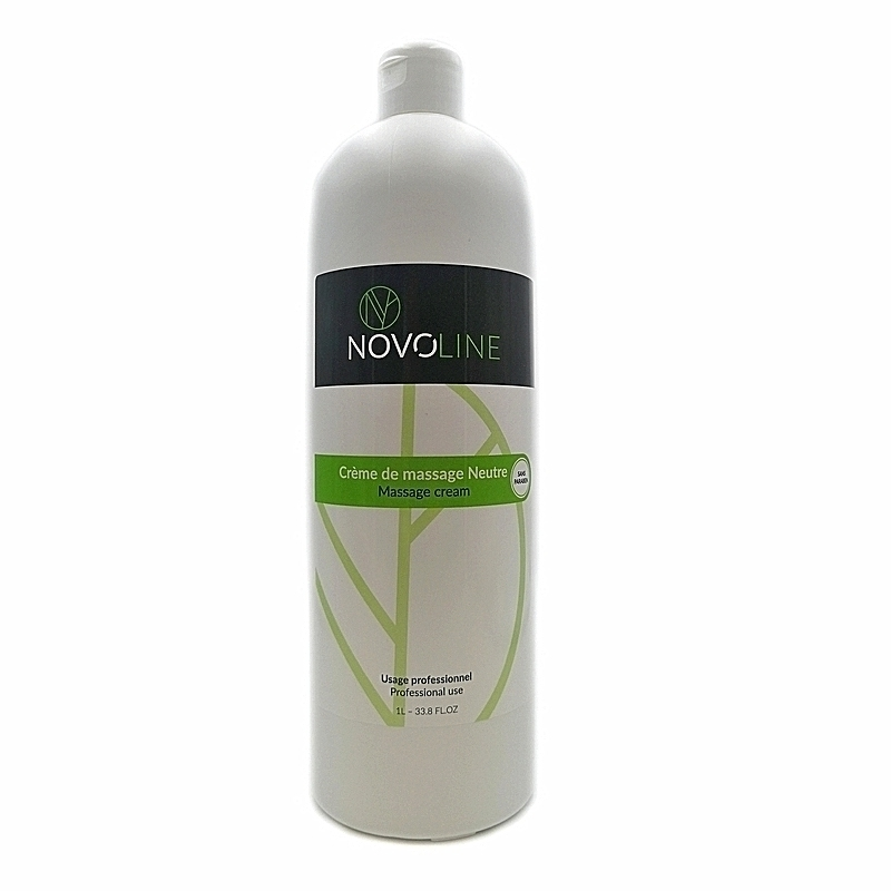 Crème de massage neutre Novoline - Sans paraben - Flacon de 1 litre
