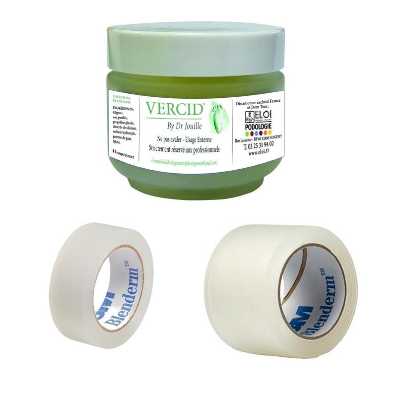 Adhésif Pack Vercid by Dr Jouille + Sparadrap Blenderm - Taille au choix -