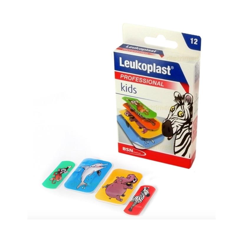 Adhésif Leukoplast kids - Pansements colorés BSN - Boite x 12