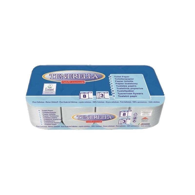 Papier toilette & Hygiénique Papier hygiénique - 3 plis - Ballot de 8 ou 72 rouleaux