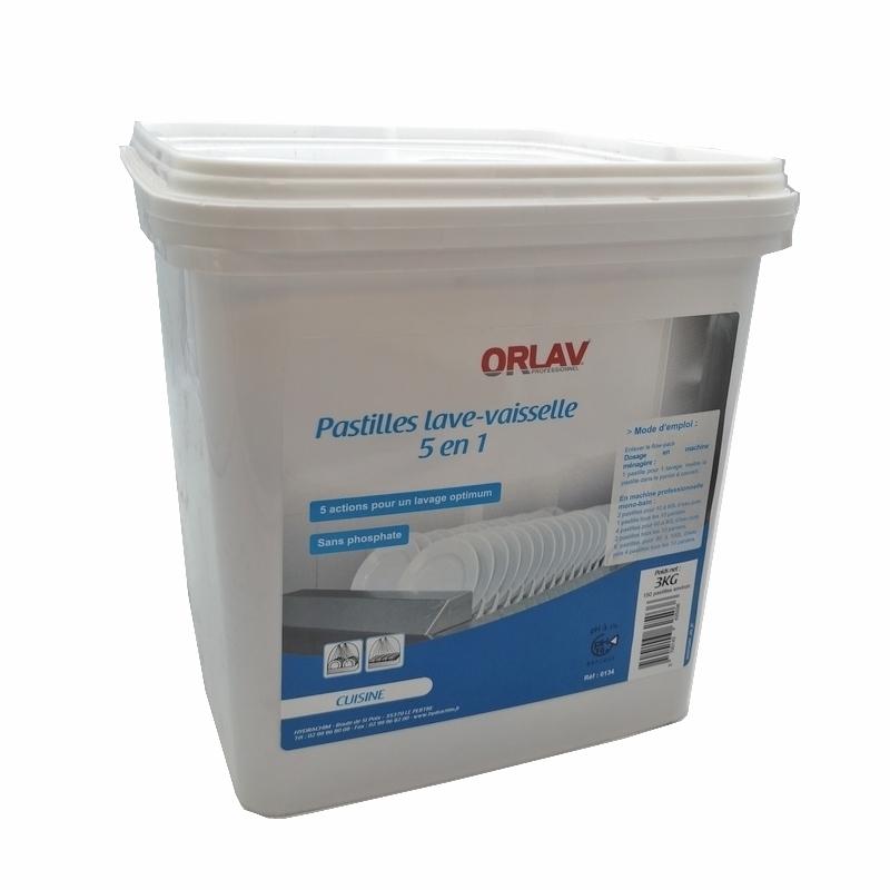 Produits d'entretien Pastilles lave vaisselle - 5 en 1 Orlav - Seau de 3 Kg