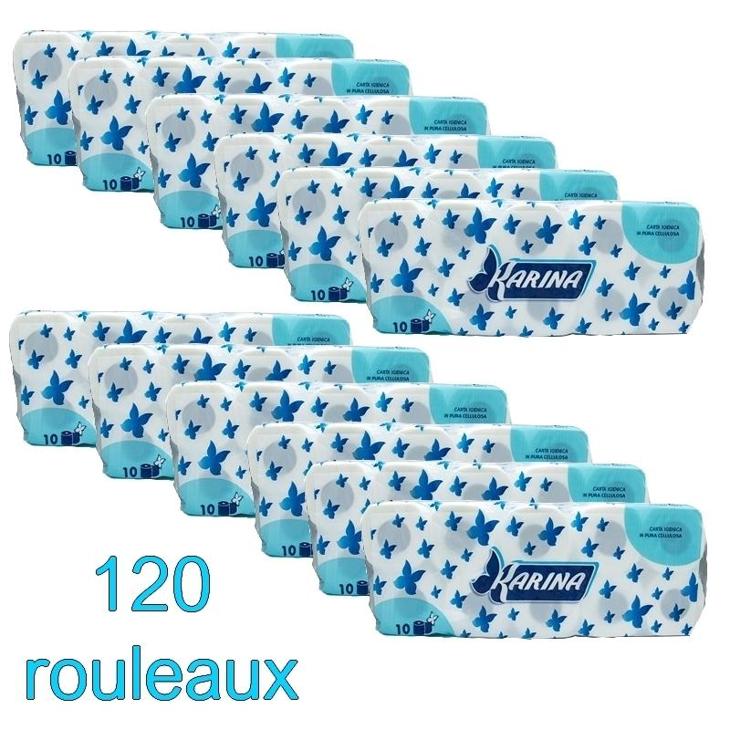 Papier toilette & Hygiénique Papier hygiénique Karina - 2 plis - Ballot de 120 rouleaux