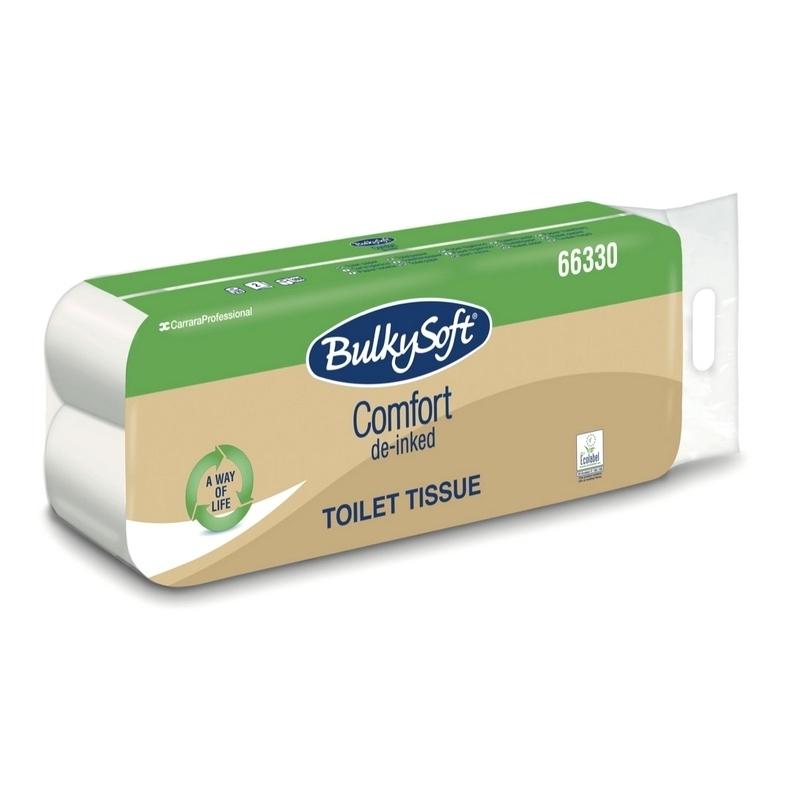 Papier toilette & Hygiénique Papier toilette Comfort BulkySoft - Ecolabel 160 feuilles 2 plis - Ballot de 10 rouleaux