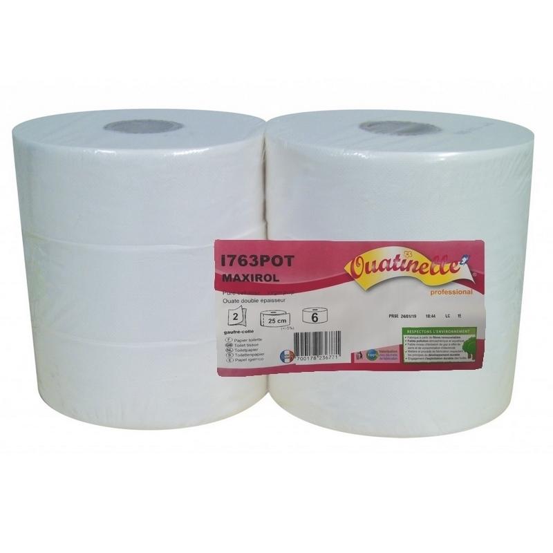 Papier toilette & Hygiénique Papier hygiénique Maxi Jumbo - Ouatinelle I763 - Ballot de 6 rouleaux