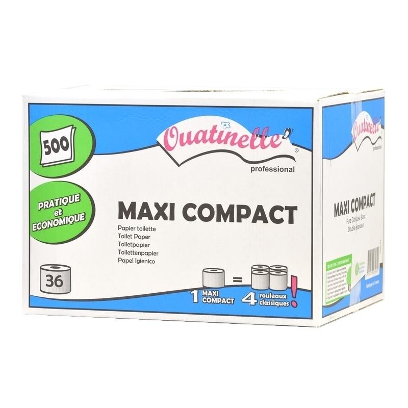 Papier toilette & Hygiénique Papier toilette Ouatinelle - Maxi Compact 500 formats - Carton de 36 rouleaux