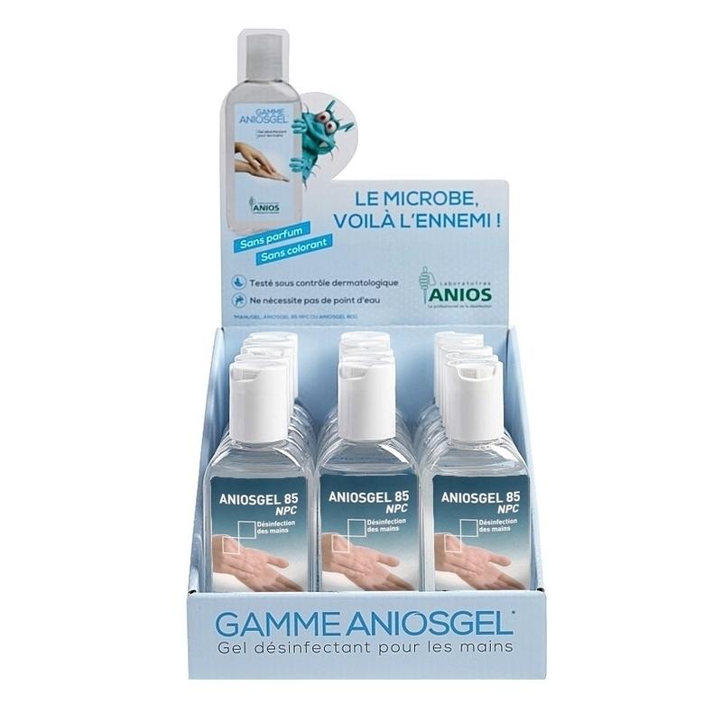 Toutes les promotions Aniosgel 85 NPC + Présentoir - Gel hydroalcoolique - Carton de 15 flacons de 75 ml