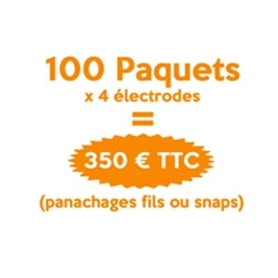 Toutes les promotions Electrodes fils ou snaps - 100 paquets