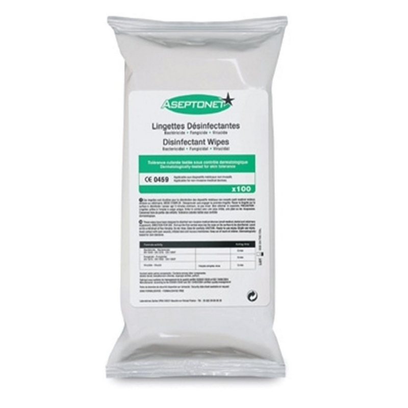 Lingettes  Lingettes désinfectantes Aseptonet - Recharge - Paquet de 100