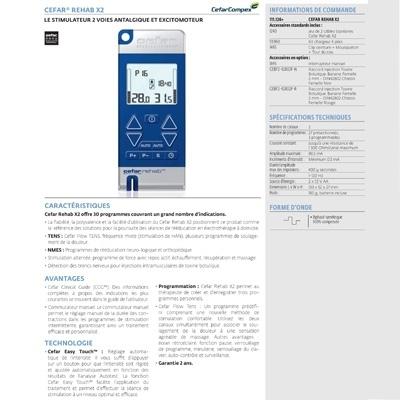 Stimulateur Cefar Rehab X2 - DJO Global Chattanooga - Électrothérapie portable