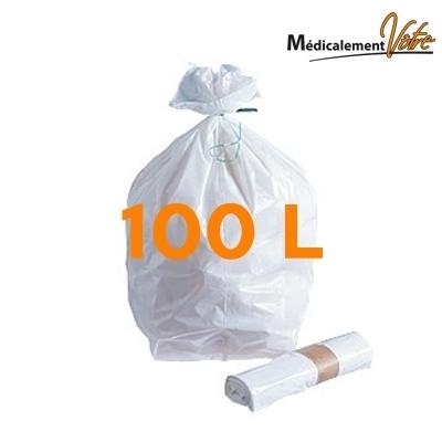 Sac poubelle Sac poubelle blanc 100 L - carton x 200