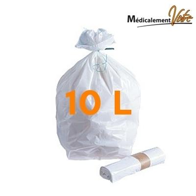 Sac poubelle Sac poubelle blanc 10 L - carton x 1000