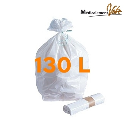 Sac poubelle Sac poubelle blanc 130 L - carton x 200