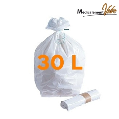 Sacs poubelle Sac poubelle blanc 30 litres - Carton de 500