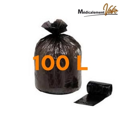 Sac poubelle Sac poubelle noir 100 L - carton x 200