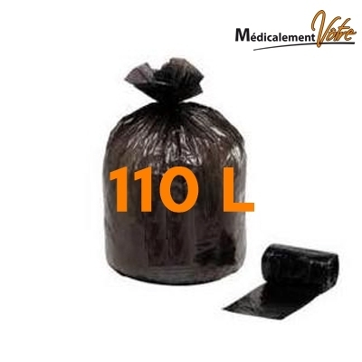 Sac poubelle Sac poubelle noir 110 L - carton x 200