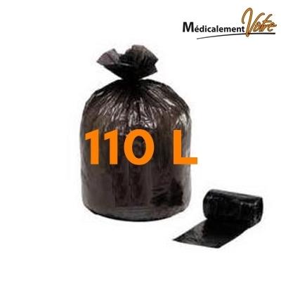 Sac poubelle noir 110 litres - Carton de 200