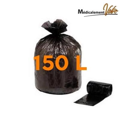 Sac poubelle noir 150 litres - Carton de 100