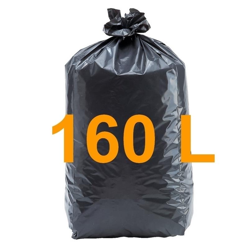 Sacs poubelle Sac poubelle noir 160 litres - Carton de 100
