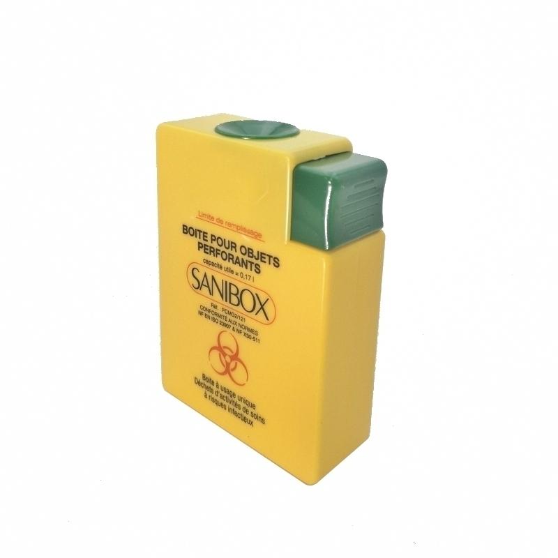 Collecte des déchets Collecteur pour objets perforants - Sanibox - 0,17 litre