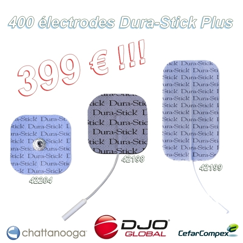 Electrodes Pack de 100 paquets de 4 électrodes - Dura Stick Plus - 3 références au choix