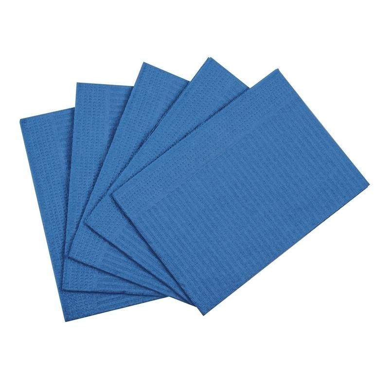 Set de soins & Champs opératoires Serviettes plastifiées bleues - 33 x 48 cm - Paquet de 125