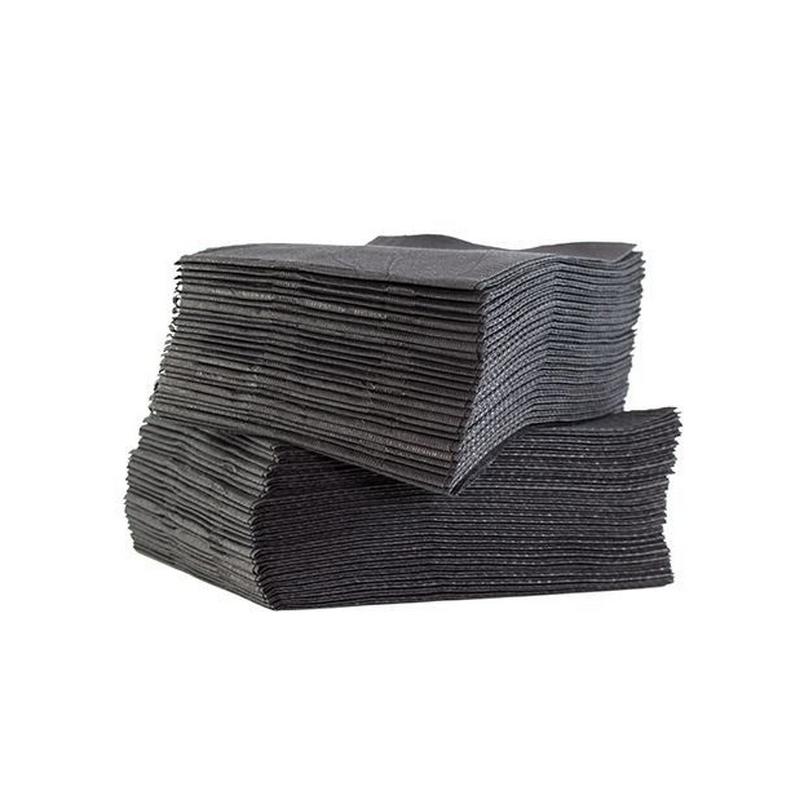 Set de soins & Champs opératoires Serviettes plastifiées noires - 33 x 48 cm - Paquet de 125