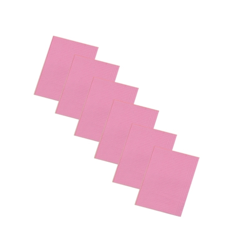 Serviettes plastifiées roses - 33 x 48 cm - Paquet de 125