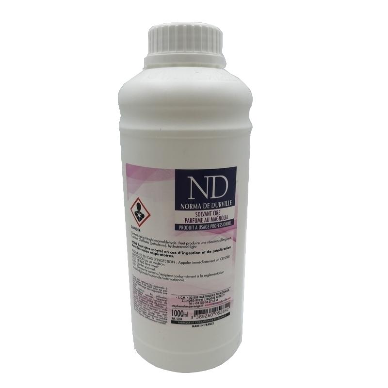 Consommables esthétique Solvant cire - Parfumé au magnolia - Flacon 1 litre