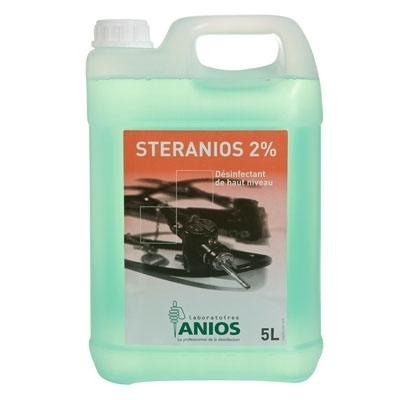 Désinfection du matériel Steranios 2% - Désinfectant total à froid - Bidon de 5 litres