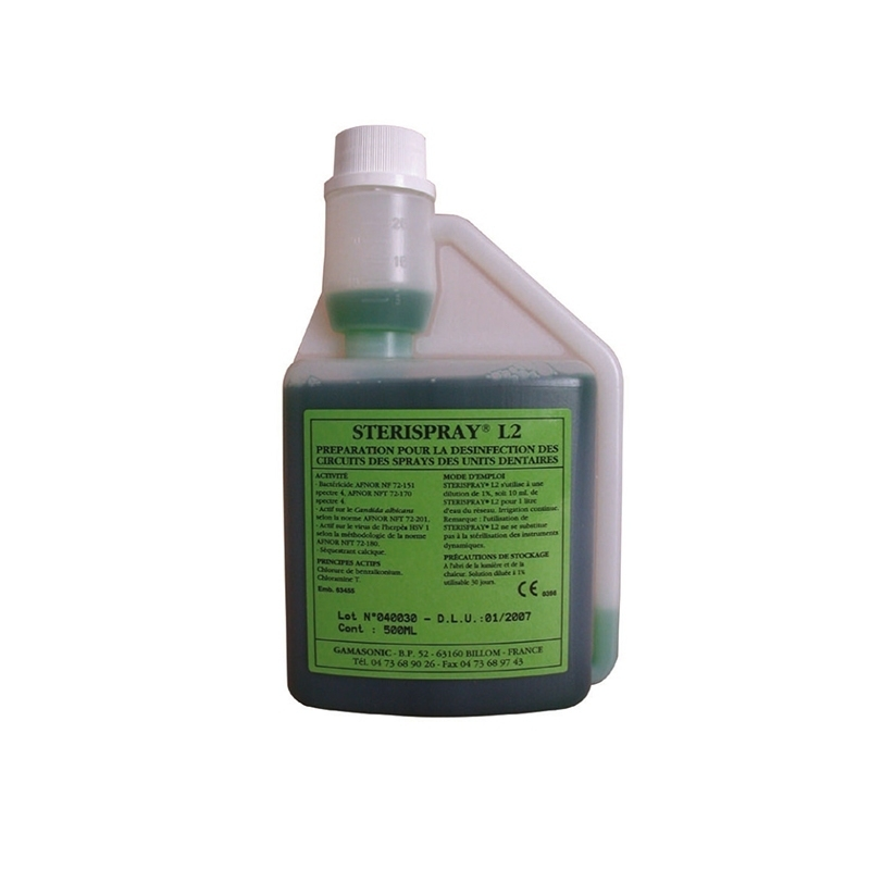 Désinfection du matériel Sterispray L2 - Solution de désinfection - Flacon 500 mL