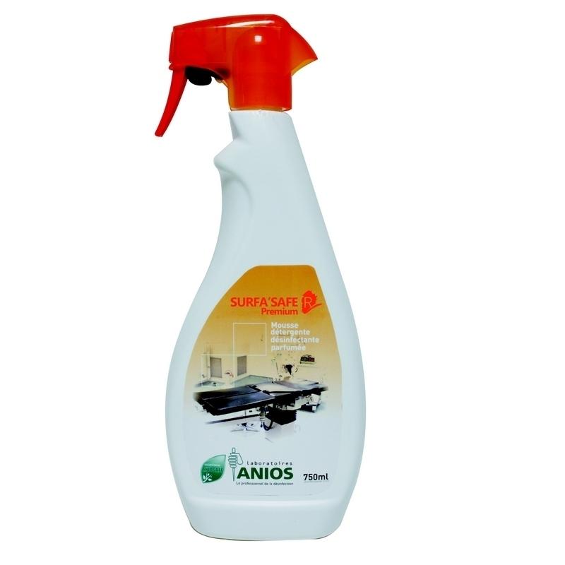 Sols et surfaces Surfa Safe R Premium Anios - Mousse détergente & désinfectante parfumée - Flacon de 750 ml