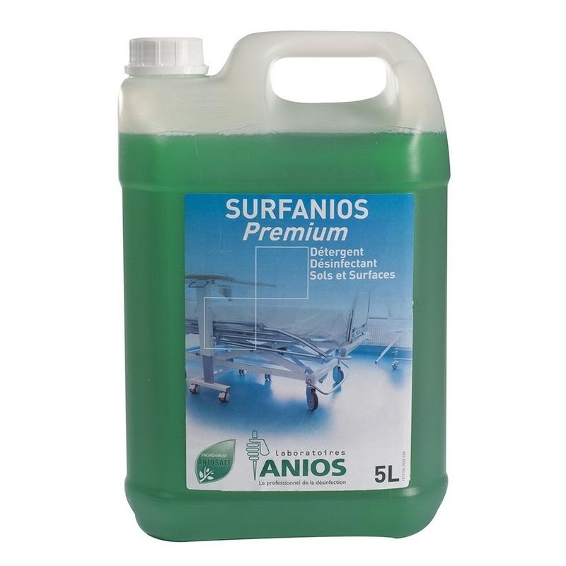 Sols et surfaces Surfanios Premium Anios - Détergent et désinfectant - Bidon de 5 litres