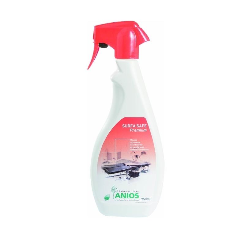 Sols et surfaces Surfa Safe Premium - Mousse détergente & désinfectante - Flacon de 750 ml- ANIOS